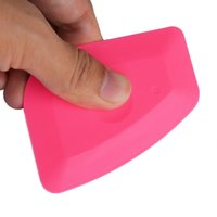 Wholesale pink auto decals online - Pink Vinyl Squeegee Auto Car Wrap Tools Ice Scraper Car Stickers Decals Window Tint Tools Glass Household Cleaning Tool