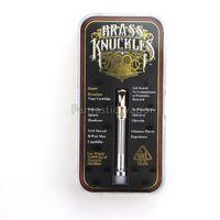 juntas de latão frete grátis venda por atacado-Connected Abragadabra Latão Knuckles Ouro 510 vidro vazio vape OG cartucho Frete grátis