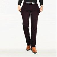 anti kırışıklık pantolonu toptan satış-2019 Moda Ince Streç Rahat Pantolon Erkekler Düz İş Ücretsiz Sıcak Anti-kırışıklık Pantolon Vahşi Takım Erkek Büyük Boy 38 40