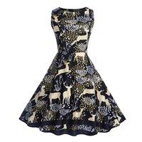 колокольчики оптовых-Лучшие продажи моделей взрыва Рождество платье юбка женский олень принт юбка