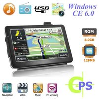 Wholesale car gps for sale - 7 inch Car GPS Navigation Bluetooth MB G with FM MP3 MP4 MHZ Detailed Maps Navigator Europe Russia North America