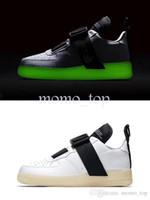 mejores zapatillas para correr al por mayor-2019 Chaussures Forces Utility QS Luminous Running Shoes para hombre La mejor calidad Air Zapatillas Sports Runner One Jogging Sneakers tamaño 40-45