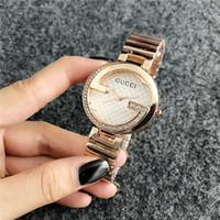 marcas de relógios femininos venda por atacado-2019 Moda GUESSity Marca homens das mulheres Menina de cristal de discagem de aço Inoxidável banda de quartzo dz relógio de pulso PANDORA Pulseira Relógio gue ss big bang1