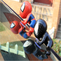 Wholesale car sucker toys resale online - 2 color Spider Man Doll Toy Climbing Spiderman Window Sucker for Spider Man Action Figures Toy Car Home Interior Decoration
