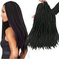 productos de pelo trenzado al por mayor-18 '' Faux Lock Twsit Braid Hair Extensions 24 Roots / pack Crochet Brading Hair Products 100% kanekalon