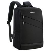 ingrosso portatili da 14 pollici-Business Laptop Backpack 14 15.6 pollici Moda uomini viaggio indietro Pack Multifunzione nylon nero Bagpacks per adolescenti