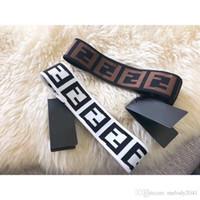 ingrosso marrone elastico-Vendita calda moda fascia elastica unisex Design di lusso bianco e marrone senza scatola Europa Trendy Headwrap