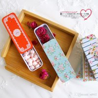 Wholesale small flower designs resale online - Mini Flower Design Small Box Slide Iron Boxs Telescopic Carry On Storage Headset Jewelry Chewing Gum Metal gqC1 E1