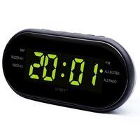 basamaklı basamak toptan satış-LED Dijital Çalar Saat AM / FM Radyo ile Çift Alarmlar Uyku Erteleme Fonksiyonu Çıkış Powered Yatak Odası için Büyük Haneli Ekran