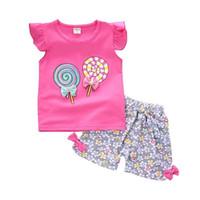 ingrosso tute sportive per bambini-New Baby Girls Abbigliamento Outfit Estate di Marca Neonato T-Shirt Senza Maniche Bicchierini 2 pz / Set Abbigliamento Casual Sport Tute