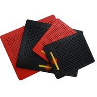 ingrosso magnete da tavoletta-Tavolo da disegno magnetico Cuscinetto magnetico per bambini Giocattoli Educazione Apprendimento Stilo per bambini viaggio Giocattoli Tavole da scrittura perline per tablet Magnet Pad FFA1332