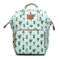 Wholesale cartoon diaper bags for sale - Group buy Cactus Printed Mummy Bags Printed Travel Backpack Large Cartoon Maternity Diaper Bags Nursing Bag For Baby Care