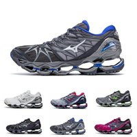 Wholesale free shipping running shoes original resale online - Mizuno Wave Prophecy Mens Designer Running Shoes Original Mizunos s Women Trainers Sports Sneakers Size