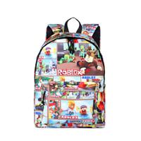 ingrosso ragazzi giochi-Gioco Roblox Zaini stampati Boy Girl Study Stasionery Sacchetto regalo bambini Harajuku Roblox Bambini Schoolbag Moda Donna Borsa uomo