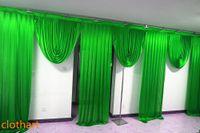 saten düğün zeminler toptan satış-6 m geniş swags düğün stilist tasarımlar backdrop Parti Perde perdeler Kutlama Sahne Performansı Arka Plan Saten Asmak duvar draps 67