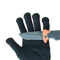 siyah kesme eldivenleri toptan satış-1 / Çift Siyah Çalışma Güvenlik Eldiven Kes Dayanıklı Koruyucu Paslanmaz Çelik Tel Kasap Anti-Kesme Eldiven Güvenlik Eldivenleri