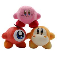 kirby doldurulmuş oyuncaklar toptan satış-14 cm Waddle Dee Oyunu Yıldız Kirby Yumuşak Dolması Hayvan Doll Kabarık Pembe peluş Bebek çocuk Hediye Oyuncaklar için