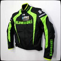 Wholesale kawasaki motorcycle jacket resale online - New Hot sales KAWASAKI Men s Motorcycle riding jackets Racing clothing With removable cotton gall and protective gear