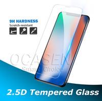 gehärtetem glasschirm iphone 5s großhandel-0.3MM 2.5D 9H ausgeglichenes Glas-Schirm-Schutz für iPhone 11 Pro Max X XS MAX XR 6 7 8 Plus 5S