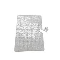 ingrosso a4 carte di dimensioni-blank Jigsaw puzzle paper per fai da te Stampa a trasferimento termico carte da puzzle formato A4 per bambini fai da te bianco trasferimento termico perlescente