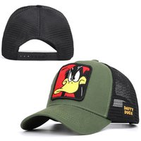 Wholesale cute baseball caps for women resale online - Baseball Caps Hot Animal Duck Anime Cute Rabbit Embroidery for Women Men Outdoor Dad Truck Driver Dad Hat