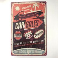 Wholesale custom car painting for sale - Group buy Car Sales Open Hours Decor Metal Nostalgia Tin Poster Pin up Girl Cafe Bar Home Wall Garage Christmas Vintage Art Custom