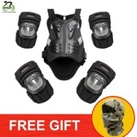 Wholesale motorcycle body protectors resale online - WOSAWE Ski Snowboard Armor Set Motorcycle Knee Pad Elbow Pad Chest Protector Back Support Motocross Motorbike Body Guard Gear