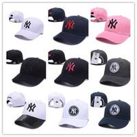 нью-йоркские шляпы оптовых-High Fashion Snapback Cap Нью-Йорк Регулируемые бейсбольные кепки Snapbacks Высокое качество LA Sport cap мужчины женщины кость Gorras Casquette папа шляпа