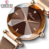 Wholesale black crystal gems for sale - Group buy CHENXI Fashion Colors Gem Cut Geometry Crystal Luxury Ladies Quartz Watches Women s Dress Watch Women Clock zegarek damski