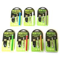 usb enrolado venda por atacado-Kit de Vértices 3em1 kits Vaporizador 280 mAh VV Bateria Vape Pen 0.5 ml AC1003 Cartucho de Bobina De Cerâmica carregador USB DHL Livre