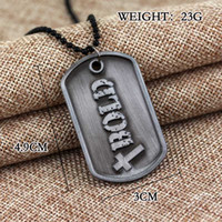 Wholesale bold necklaces resale online - Fashion Christian Jewelry God Necklace Joshua Be Strong And Courageous Bible Verse Scripture Letter Bold Brand Pendant Chain