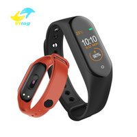 intelligentes sportarmband großhandel-Intelligente Uhr M4 Smart Armband Pulsmesser Kalorien Wasserdicht IP67 Smart Band Fashion Watch Sport für iOS Android