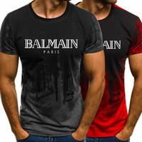 ingrosso t-shirt di cotone di qualità-Magliette estive da uomo Fashion Designer Logo Stampa Colletto tondo 100% cotone Maglietta di alta qualità Girocollo manica corta S-3XL