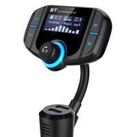 Wholesale NEW BT70 Car Bluetooth FM Transmitter Modulator Transmiter USB Charger QC3 Handsfree Audio MP3 Player mm AUX music