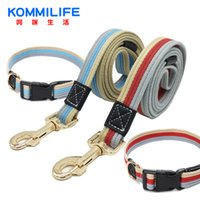 Wholesale canvas dog collars resale online - Cheap Thick Canvas Pet Collar Adjustable Bust Collars and Leash Set Dog Tracking Small Medium Large Dog Collars