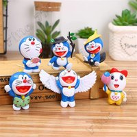 doraemon novo venda por atacado-6 Pcs / Set New Arrival Anime Doraemon Figuras de Ação bonito Doraemon PVC Dolls Kids Collection presente