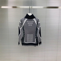 abrigo de moda de jersey al por mayor-NUEVO suéter de diseñador para hombre estilo hip hop de moda solapa de cuello alto mujer suéter de lana 100% abrigo casual de algodón de lujo