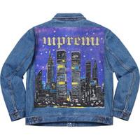 nova iorque streetwear venda por atacado-19SS Nova Iorque Pintado Jaqueta Camuflagem Jaqueta Jaqueta de Alta Qualidade Highstreet Moda Feminina E Mens Designer Jaqueta HFBYJK167