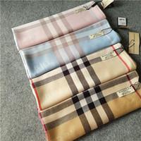 ingrosso sciarpa lunga del plaid-Sciarpa classica in cashmere per donna design Sciarpa scozzese Stampata regalo donna scialle 180 * 70cm lunghe sciarpe RT-128