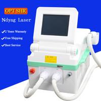 ipl haut laser rf großhandel-IPL-Maschine Laser-Haarentfernung opt shr Haarentfernung e Licht RF-Hautbehandlung ND YAG LASER Tattooentfernung