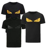 neuheit gedruckte t-shirts großhandel-Sommer Luxus Designer T Shirts Männer Mode Neuheit Tasche Bugs augen Druck T-shirt Herrenbekleidung Italien Marke Kurzarm T-shirt Tops