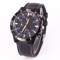 gt silikon quarzuhr großhandel-Gt armbanduhren marke luxus designer silikon uhr mens fashion business nähte uhren casual sports quarz schwarz retro armbanduhren