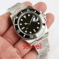 v8 negro al por mayor-Relojes de lujo para hombre Top V8 904L 116610LN ETA 2836 Reloj mecánico automático Marco de cerámica negro Reloj de buceo luminoso Envío de DHL