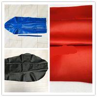 motosiklet yastığı toptan satış-Kırmızı toprak poliüretan su geçirmez yamaha motosiklet DT230 için deri minder koltuk kapakları