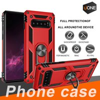 Wholesale rugged cars for sale - New For Samsung Galaxy S10 S10 Plus Hybrid Rugged Shockproof Armor Stand Case For S10 E S9 S8 S7 Metal Ring Magnetic Car Holder Cover Cases