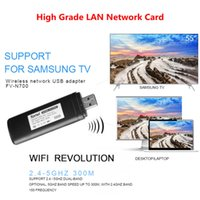 tv para samsung al por mayor-Adaptador Wi-Fi inalámbrico para TV USB Adaptador LAN inalámbrico WLAN Wifi USB para Samsung Smart TV WIS12ABGNX WIS09ABGN 300M Receptor Wifi