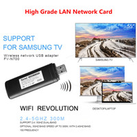 Wholesale USB TV Wireless Wi Fi Adapter WLAN LAN Adapter Wifi USB for Samsung Smart TV WIS12ABGNX WIS09ABGN M Wifi Receiver