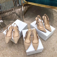 sandálias de fios venda por atacado-2019 primavera e no verão série de malha senhoras fio sandálias de salto alto plana, Medusa confortável e respirável pequenas sandálias frescas de salto alto 9.5 CM
