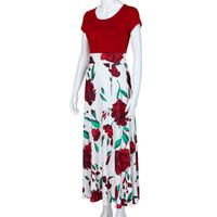 ingrosso abito da donna floreale-Womens Fashion Casual Floral Printed Maxi Dress manica lunga Party Dress Dress veste femme sukienki shein # 201