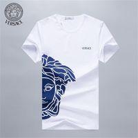 m broca venda por atacado-Europa e nos Estados Unidos verão tamanho grande homens Medusa perfuração quente de manga curta t-shirt p111